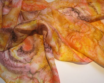 Abstract silk scarf with spirals