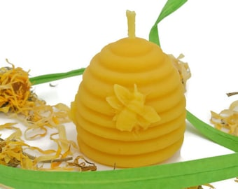 Beeswax Candle, Beehive Beeswax Candle, Small Beehive Candle, Beehive Candle, Handmade Candle, Beeswax, Beeswax Votive Candle,