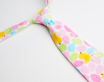 Easter Eggs with Chicks Neck Tie With Adjustable Strap