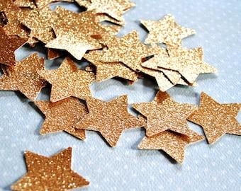 Gold glitter stars, Gold star confetti, 30 pcs GOLD party decor, Birthday party decor