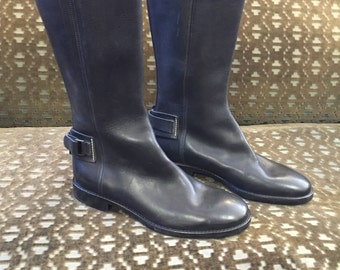 Ralph Lauren Black Leather Boots 9 1/2B