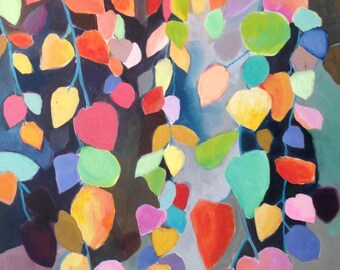 "Original Art, titled ""Cascading Leaves II"""