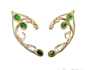 Tauriel Elf ears, ear jewelry for Elf Ranger cosplay, elven ears for Tauriel costume, elf costume, elvish jewelry, fantasy lover gift