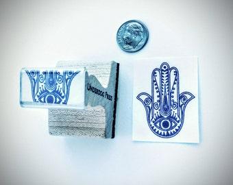 "Stamp - Hamsa Hand Pattern, 1.5""x1.25"""
