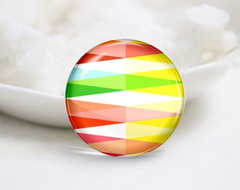 10mm 12mm 14mm 16mm 18mm 20mm 25mm 30mm Handmade Round Photo Glass Cabochon-Colorful (P1558)