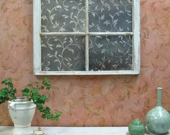Large Vine Wallpaper Wall Stencil - Decorating a Classic Feature Wall with Leaves and Plants Wall Mural
