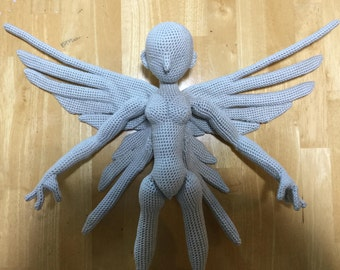 Wing crochet pattern for Amigurumi Female body