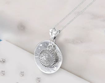 Sterling silver ashes/hair resin gem memorial pendant