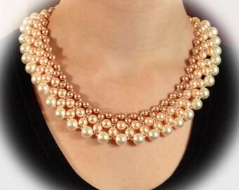 Peachy Pearl Collar