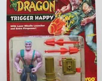 Vintage 1993 Tyco Double Dragon Trigger Happy Figure
