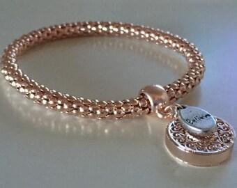 BELIEVE FILIGREE Rose Gold Bracelet