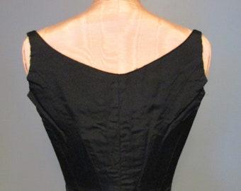 Victorian Sleeveless Corset Top Bodice - Black Gothic