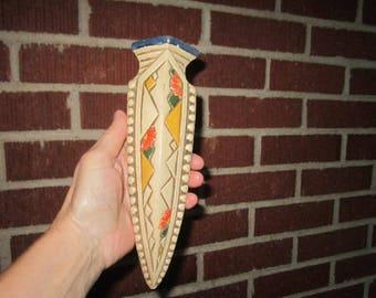 Vintage 1930s Art Deco Japanese Pottery Wall Pocket
