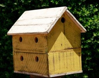 Vintage bird house, antique style bird house, Finch Bird house, Shabby Chic, Two story bird house, functional bird house, Bird House