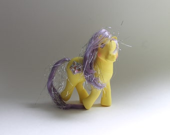 My Little Pony Princess Starburst MINT CONDITION Adult G1 Gen Generation 1 MLP Yellow Purple Lavender Tinsel Hair Ponies