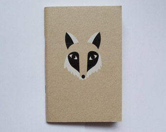 Mr Fox Kraft Lined Mini A6 Notebook