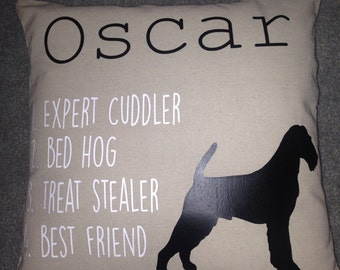 Personalized pet pillow cover, linen, home decor, animal lover gift, dog, cat