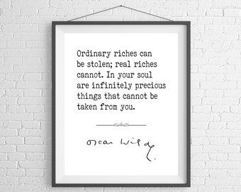 Oscar Wilde Quote Print, Family Quote Art, Poster, Inspirational Wall Art, Inspirational Quote, Inspiring Quotes, Gifts, Life Quotes, Love