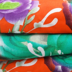 Apparel Fabric Material Cotton Fabric For Sewing Designer Orange 100%cotton sewing fabric floral printing for woman wrap by the yard ZBC6496