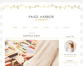 "Blogger Template, Blog Template - ""Paige 