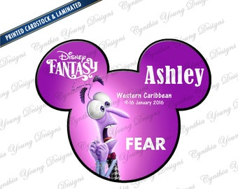 Stateroom Door Mickey Ears  |  Inside Out FEAR Magnet| Printed