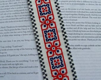 "Hand Stitched and Lined Completed Cross Stitch Bookmark 2.25"" X 8.25"""