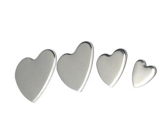 Aluminium Heart Blank 11mm (Tiny)| Aluminium stamping Blank| Various sizes| Jewellery making