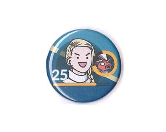 FULL Digital Custom Portrait + Badge - caricature pin, personalised pin, custom portrait pin, custom avatar, you as caricature
