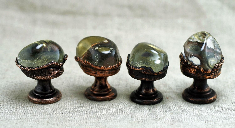 Roca de pomos de Cristal, pomos de piedras preciosas, las perillas ...