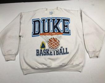 Vintage 90s duke blue devils ncaa basketball crewneck sweatshirt mens XL