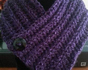 Purple crochet neck warmer