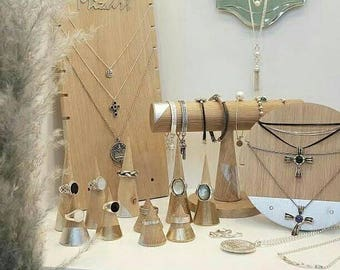 Jewellery display set for craftshow or shopwindow
