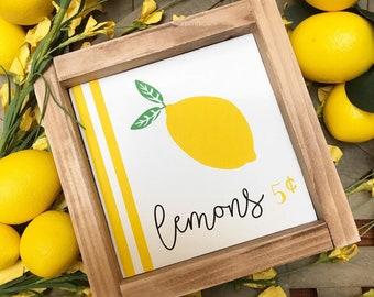 Lemons 5 cents sign, spring sign, summer sign, gift