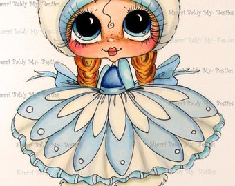 INSTANT DOWNLOAD 5  Digital Digi Stamps Big Eye Big Head Dolls Digi  IMG384 By Sherri Baldy