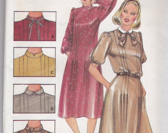 Rare Vintage 1980's Butterick 3960 Loose Fitting Dress size 16, NEW and UNCUT