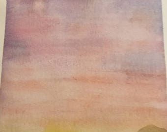 "Watercolor painting - 9 x 6 - ""Sunrise"""