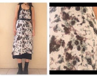 00's Tie-dye Grunge Boho Cotton Pinafore/Smock Maxi dress / boho maxi dress