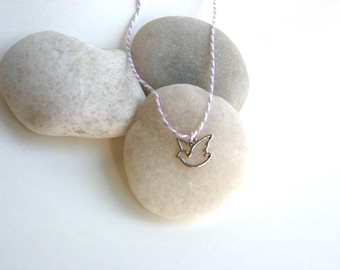 Silver Bird Charm Necklace