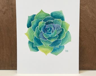 Succulent Painting, Watercolor Painting, Succulent Watercolor, Succulent