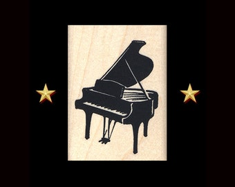 PIANO Rubber Stamp, Music Rubber Stamp, Piano Stamp, Musician, Pianist Gift, Piano Gifts, Gifts For Musician, Piano Player Gift, Music Party