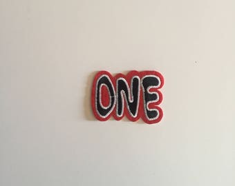 ONE iron on patch