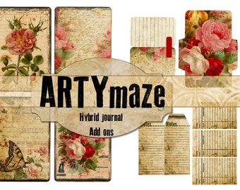 Vintage Themed Printable Journal Kit ADD ONS  INSTANT download