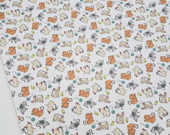 KITTENS, 8x11 faux leather sheets, Kitten material,kitten fabric, cat material, cat fabric,cat faux leather sheets, kitten faux leather