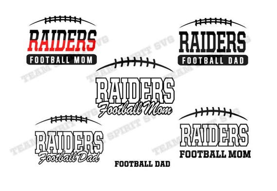 Raiders Football Mom Dad Download Files SVG DXF EPS