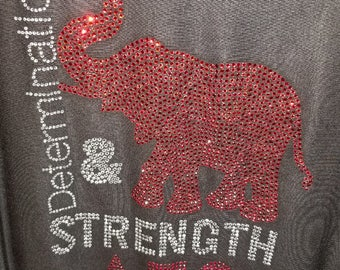 Elephant with Greek- Determination and Strength