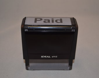 Paid rubber stamper with easy to use self stamping stamper. Carbon Neutral Stamper