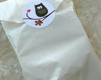 QTY 25 Medium Flat 3 inch x 5.5 inch Glassine Bags - Favors, Treats, FDA Approved for Food Contact