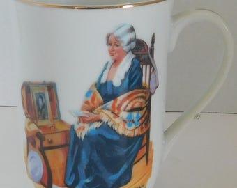 Norman Rockwell Memories coffee cup/mug 1982