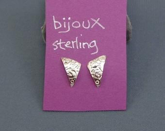 Sterling Silver Post Earrings With Planets and Stars