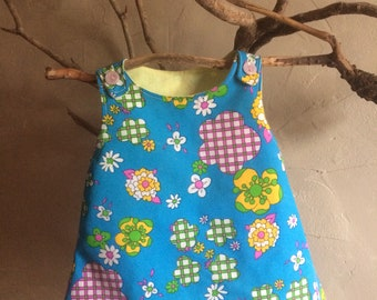 Reversible dress for baby